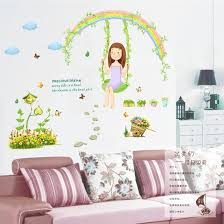 Kids Room Decoration Removable Kids Room Princess Room Decoration Rainbow Swing