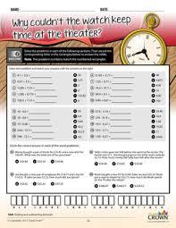 decimals worksheets math riddles 4th 5th 6th 7th grade