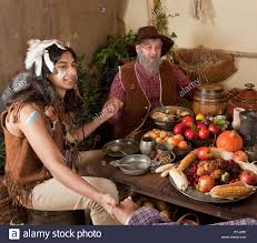 thanksgiving reenactment of the thanksgiving dinner