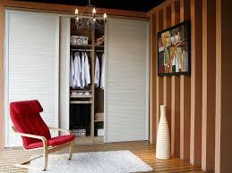 Wooden Bifold Doors Interior Bedroom White Plywood Sliding Closet Doors On Brown Wall Combined