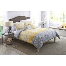 yellow black and grey comforter sets home design and decoration better homes and gardens yellow and gray medallion 5 piece bedding comforter set walmart