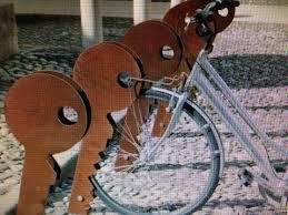 shaped designer bike rack