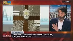 bfmtv cuisine les nouveautés parisiennes chez alfred lao cuisine une
