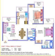 2bhk Floor Plan Overview Prateek Wisteria Sector 77 Noida Prateek Buildtech