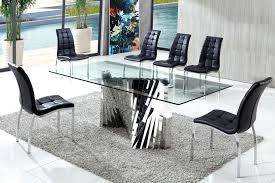 large glass top dining table amazing large glass dining table modern glass dining tables the most
