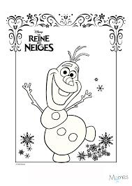 20 dessins de coloriage reine des neiges olaf à imprimer