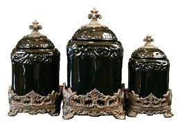 fleur de lis canisters for the kitchen fleur de lis canisters for the kitchen set of 3 black onyx kitchen