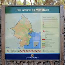 Majorca Spain Map The Natural Park Of Mondragó In Majorca