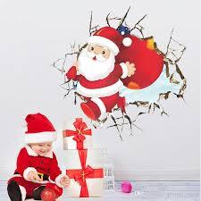 imagenes de santa claus feliz navidad compre 3d santa claus feliz navidad pegatinas de pared diy ventana