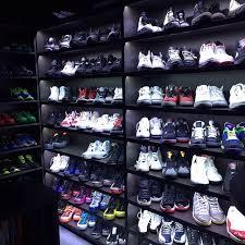shoe closet finally done showcase wall themlightsdoe via
