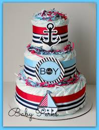 nautical diaper cake nautical baby shower sailboat theme