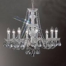 Chrome Crystal Chandelier by Shop Classic Lighting Monticello 27 In 8 Light Chrome Crystal