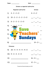 repeated subtraction ks1 worksheets lesson plans and plenary by