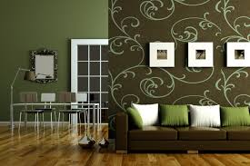 simple feature wall painting in modern living room design ideas