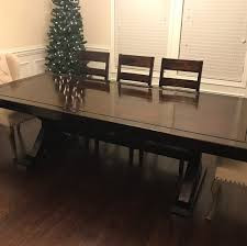 finished making a dining room table for my wife and i just in time