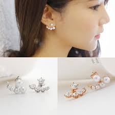 earrings styles aliexpress buy arrow earrings women pearl rhinestone