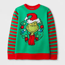 boys dr suess how the grinch stole sweatshirt green