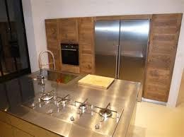 cuisine bois inox marvelous ilot central cuisine bois 4 cuisine en bois bois