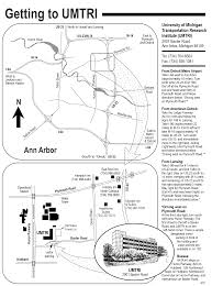 Detroit Metro Airport Map Map To Umtri Ann Arbor Connected Vehicle Test Environment