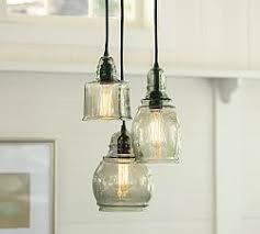 3 light pendant island kitchen lighting pendant lighting pottery barn