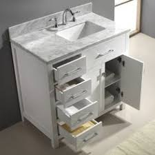 Stufurhome  Inch Malibu Grey Single Sink Bathroom Vanity By - Virtu usa caroline 36 inch single sink bathroom vanity set