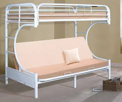C Bunk Bed Home Furnishings C Frame Bunk Bed Futon White Shopbedroom Net