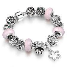 crystal charm bracelet beads images Charm chamilia bracelet silver plated crystal charm bracelet for jpg