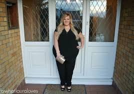 black plus size jumpsuits whatlaurawore plus size black jumpsuit what