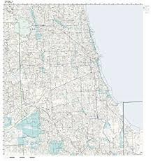 chicago zip code map zip code wall map of chicago il zip code map