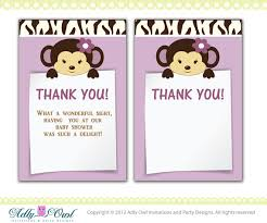 baby shower notes cocalo jacana baby shower thank you note card thank you tag