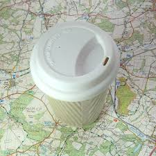 ceramic travel mug with lid sleeve coffee cup by helen rebecca