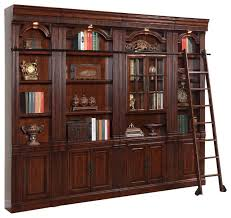 House Bookcase 4 Piece Wellington Library Bookcase Insert Wall Unit Mahogany