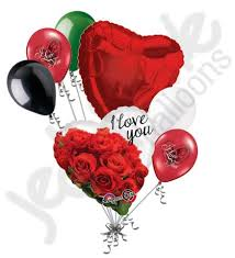 heart balloon bouquet i you roses heart balloon bouquet jeckaroonie balloons
