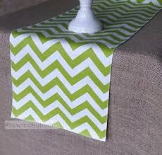 lime green table runner lime chartreuse green table runner vintage chevron dining home decor