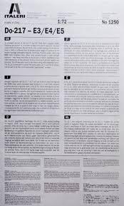 nofineline dornier do 217 e3 e4 e5 italeri 1 72