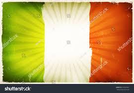 vintage irish flag poster background illustration ireland stock
