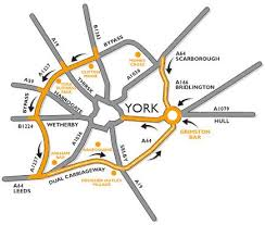 road map of york ncem the national centre for early york by car