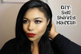 diy side shaved haircut easy youtube