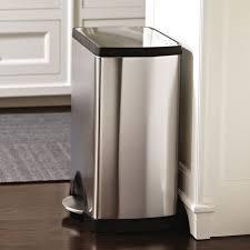 poubelle cuisine rectangulaire poubelle de cuisine à pédale 30 litres inox brossé rectangulaire