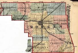 County Map Of Illinois Land Deeds And Maps Morgan County Illinois