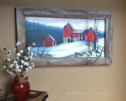 Picture Frames Made From Old Barn Wood Custom Made Rustic Picture Frame Reclaimed Wood Frames Old Wood