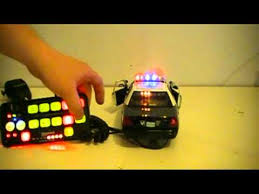 remote control police car with lights and siren 1 18 scale police car with light and siren controler youtube