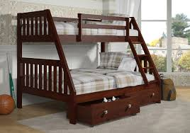 amazon com bunk bed twin over full mission style dark cappuccino
