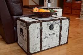 furniture modern trunk coffee table trunk end table rattan