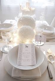 white party table decorations christmas best christmas table decorations images on pinterest