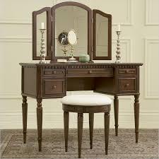 Make Up Tables Vanities Powell Furniture Vanity Set In Warm Cherry Makeup Vanity Tables