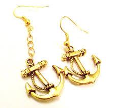 anchor earrings vintage anchor earrings