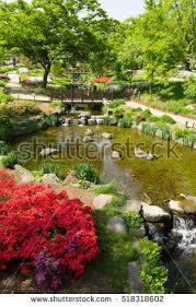 beautiful gardens flowers seoul south korea stock photo 518318602