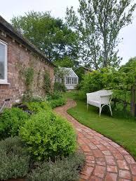 cottage garden path ideas landscape farmhouse with herringbone