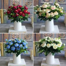 new multi color realistic 6 branches spring artificial fake peony